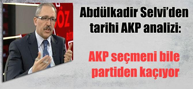 Abdülkadir Selvi'den tarihi AKP analizi: AKP seçmeni bile partiden kaçıyor