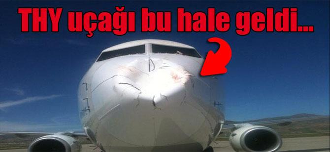 THY uçağı bu hale geldi…