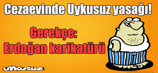 Cezaevinde Uykusuz yasağı! Gerekçe: Erdoğan karikatürü