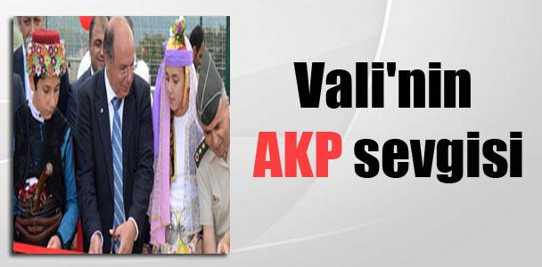Vali'nin AKP sevgisi