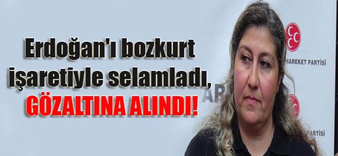 Erdoğan'ı bozkurt işaretiyle selamladı, gözaltına alındı!