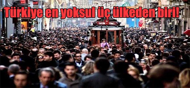 Türkiye en yoksul üç ülkeden biri!