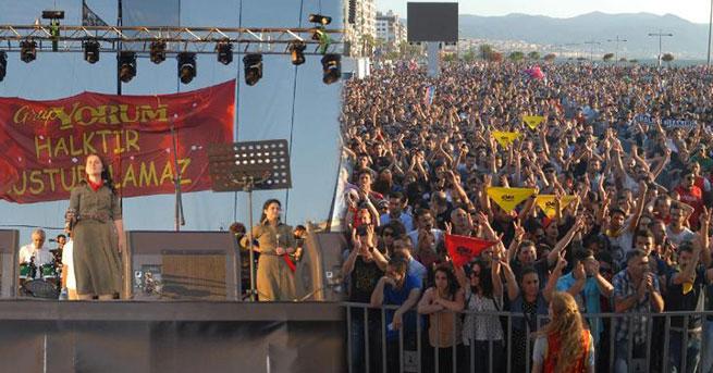 Grup Yorum, İzmir'de konser verdi