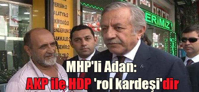 MHP'li Adan: AKP ile HDP 'rol kardeşi'dir