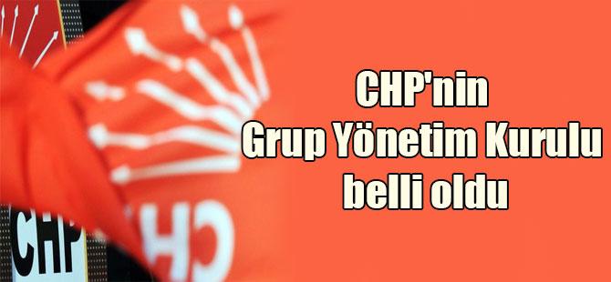CHP'nin Grup Yönetim Kurulu belli oldu