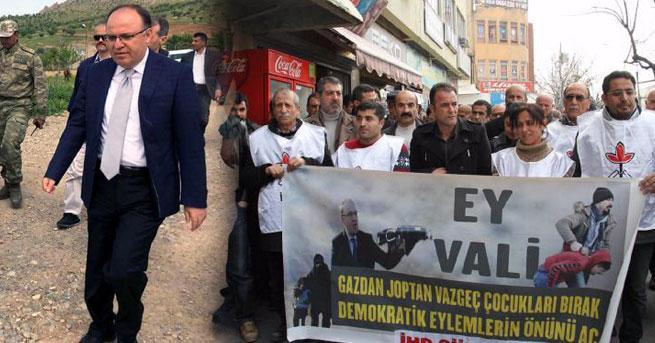 'Ey Vali gazdan coptan vazgeç' pankartı için soruşturma