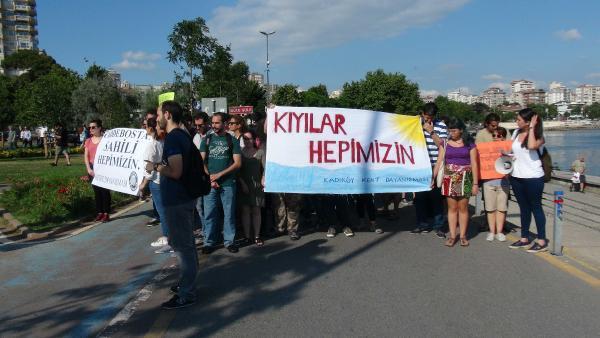 Caddebostan Plajı'nda 'Turnike' eylemi