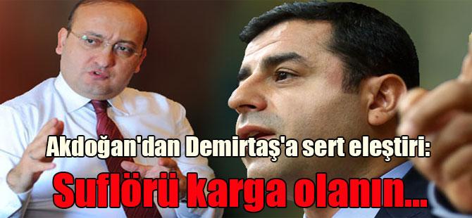 Akdoğan'dan Demirtaş'a sert eleştiri: Suflörü karga olanın…
