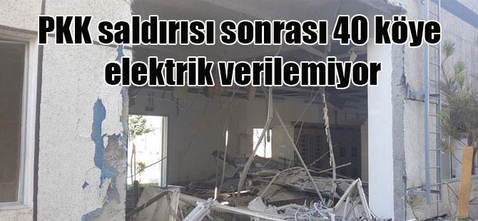 PKK saldırısı sonrası 40 köye elektrik verilemiyor