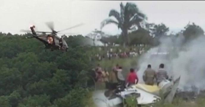 Helikopter ormana düştü!… 15 ölü!