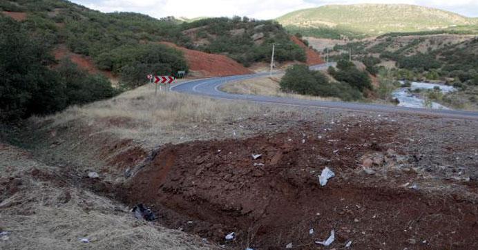Yola gömülü 250 kg bomba imha edildi