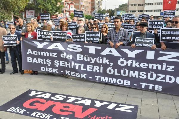 Kurbanlara anma, teröre protesto!