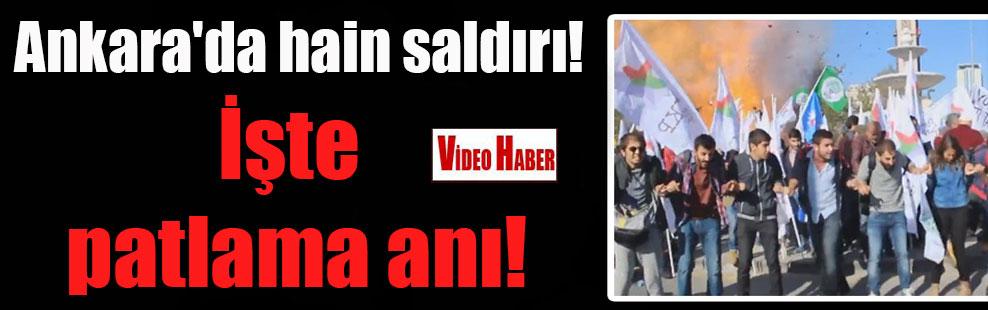 Ankara'da hain saldırı!  İşte patlama anı!
