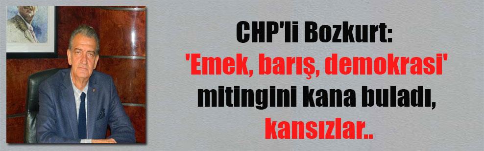 CHP'li Bozkurt:  'Emek, barış, demokrasi' mitingini kana buladı, kansızlar..