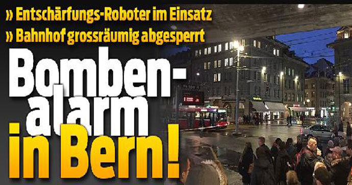 Bern tren istasyonunda bomba alarmı