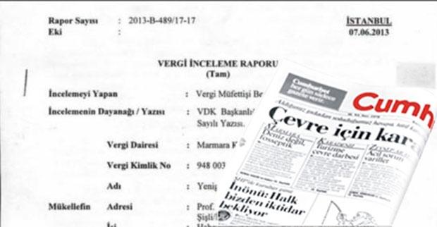 Cumhuriyet'e vergi incelemesi