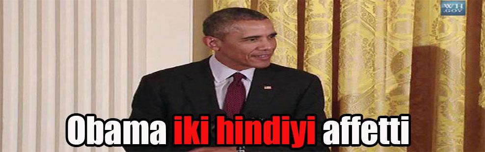 Obama iki hindiyi affetti