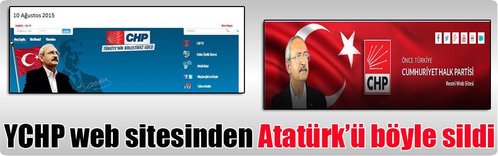 YCHP web sitesinden Atatürk'ü böyle sildi