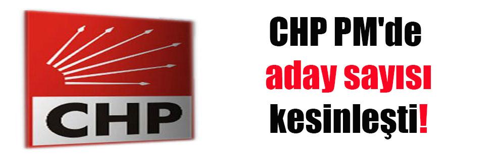 CHP PM'de aday sayısı kesinleşti