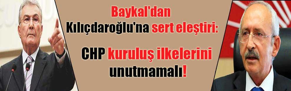 Baykal'dan Kılıçdaroğlu'na sert eleştiri: CHP kuruluş ilkelerini unutmamalı
