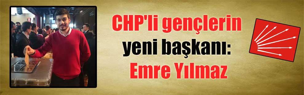 CHP'li gençlerin yeni başkanı: Emre Yılmaz
