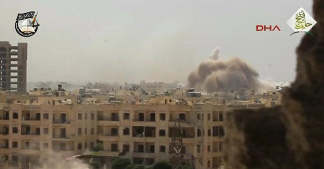 Suriyeli muhalifler rejim mevzisini havaya uçurdu