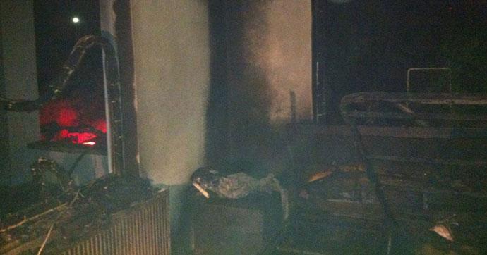 Belediye başkanının evinde çıkan yangında kundaklama şüphesi