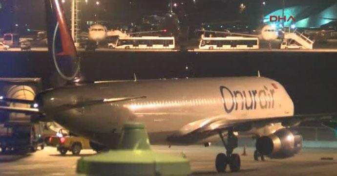 Atatürk Havalimanı'na inişine kısa bir süre kala meydana geldi
