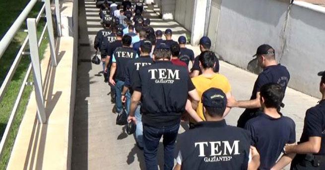 Gaziantep'teki PKK operasyonunda 17 tutuklama