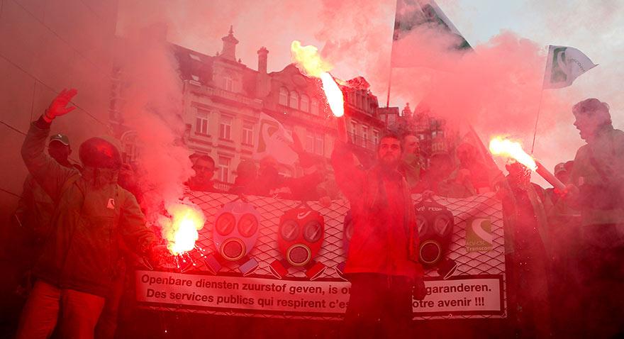 Avrupa'da isyan: Bu kez Belçika grevde