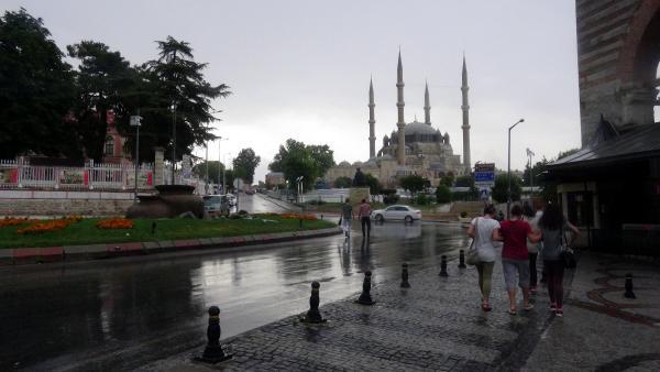 Edirne'de yağmur süprizi