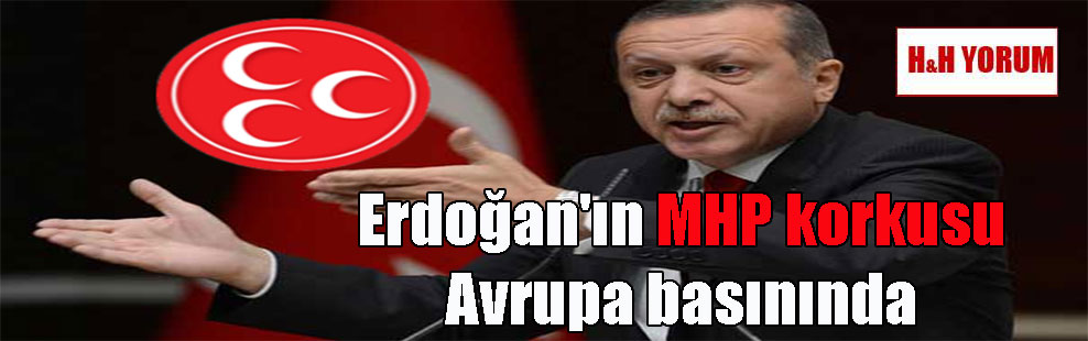 Erdoğan'ın MHP korkusu Avrupa basınında