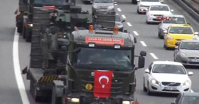 Sabiha Gökçen'deki tanklar birliklerine götürüldü