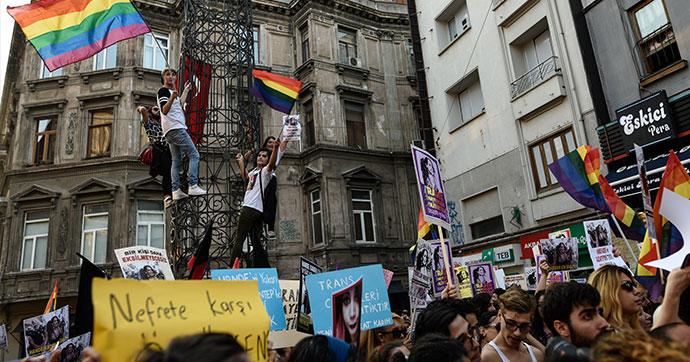 Beyoğlu'nda Hande Kader eylemi