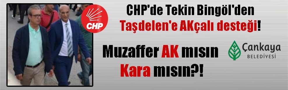 CHP'de Tekin Bingöl'den Taşdelen'e AKçalı desteği! Muzaffer AK mısın Kara mısın?!