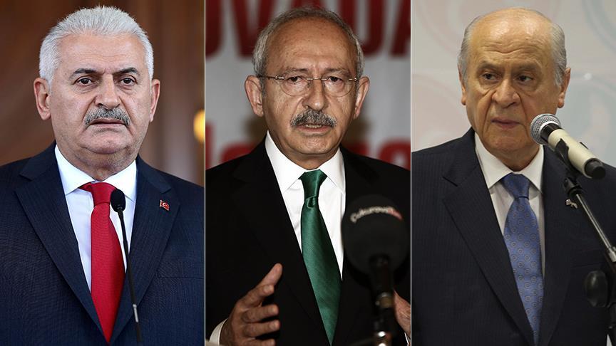 Yıldırım-Kılıçdaroğlu-Bahçeli görüşmesi sona erdi!