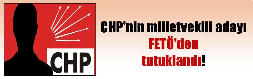 CHP'nin milletvekili adayı FETÖ'den tutuklandı!