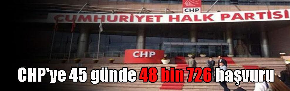 CHP'ye 45 günde 48 bin 726 başvuru