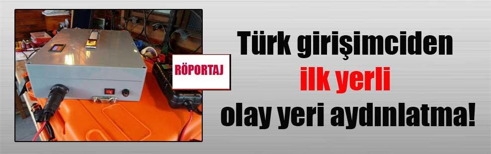 Türk girişimciden ilk yerli olay yeri aydınlatma!