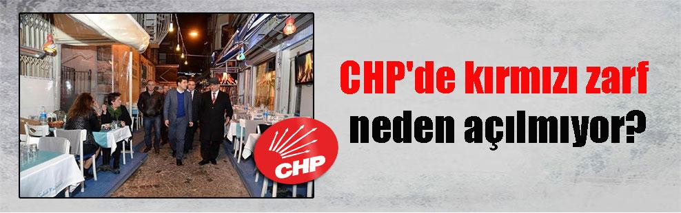 CHP'de kırmızı zarf neden açılmıyor?