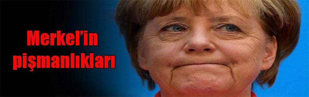 Merkel'in pişmanlıkları