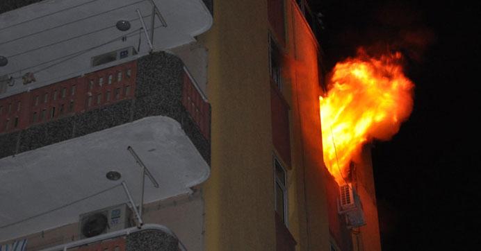 Kız yurdunda korkutan yangın