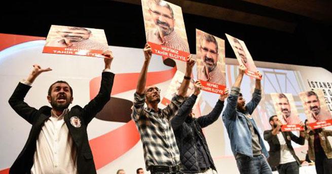 İstanbul Barosu Başkan seçimlerinde Tahir Elçi protestosu