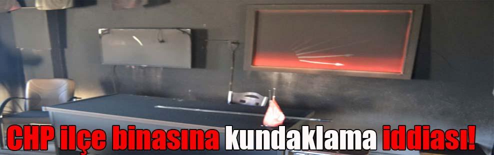 CHP ilçe binasına kundaklama iddiası!