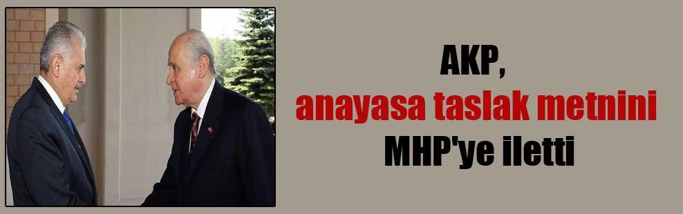AKP, anayasa taslak metnini MHP'ye iletti