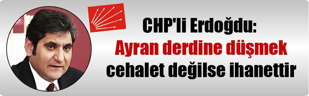 CHP'li Erdoğdu: Ayran derdine düşmek cehalet değilse ihanettir