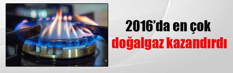 2016'da en çok doğalgaz kazandırdı
