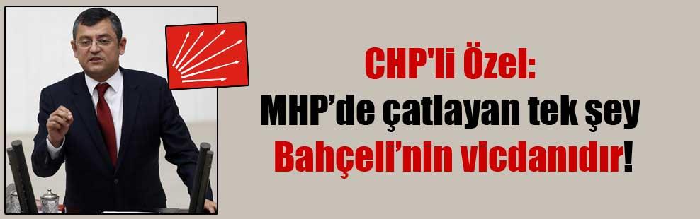 CHP'li Özel: MHP'de çatlayan tek şey Bahçeli'nin vicdanıdır!