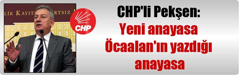 CHP'li Pekşen: Yeni anayasa Öcaalan'ın yazdığı anayasa