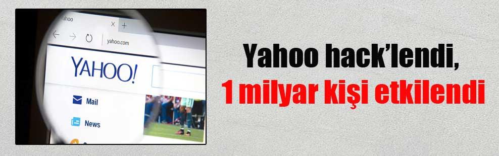 Yahoo hack'lendi, 1 milyar kişi etkilendi